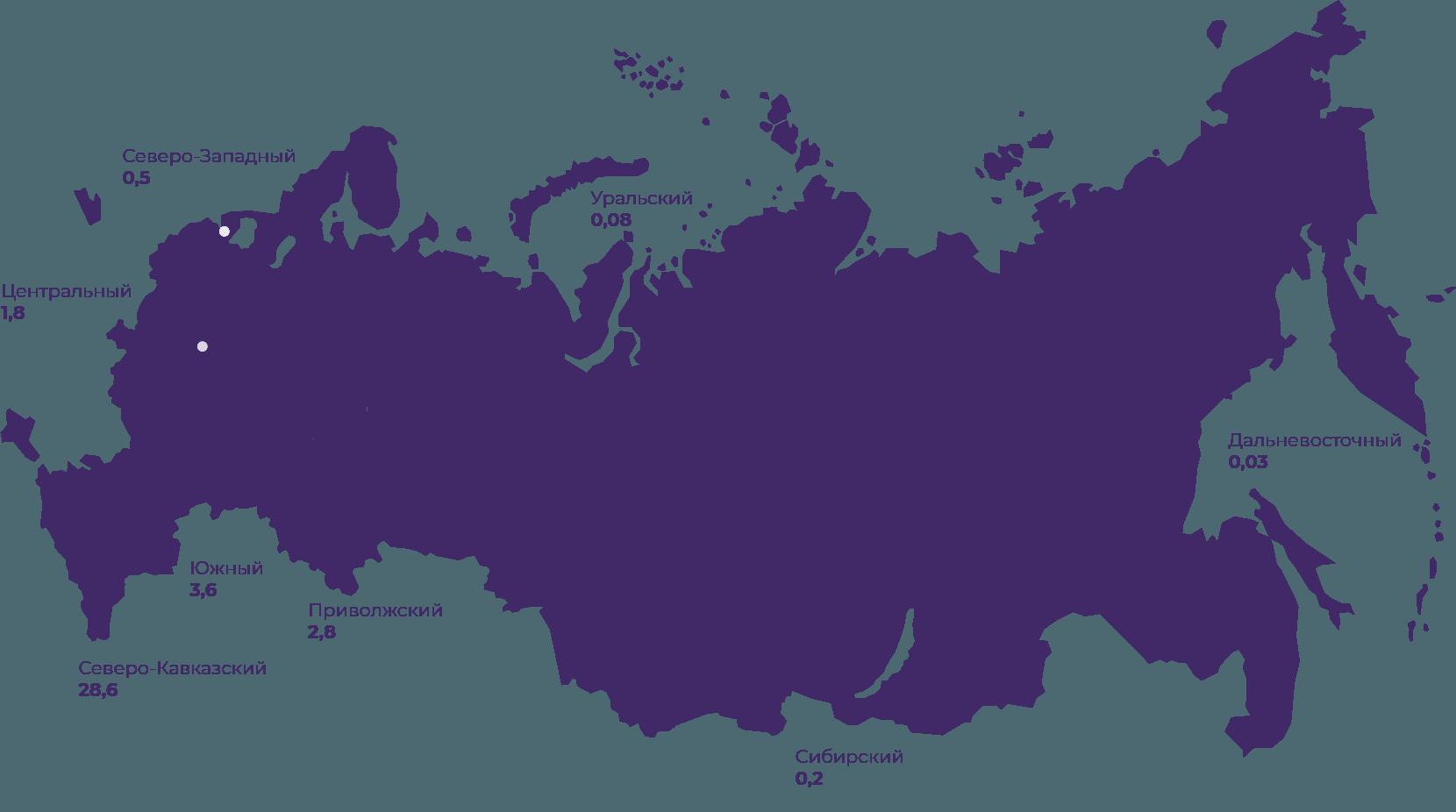 Карта: задолженность населения регионов перед крупнейшим поставщиком газа «Газпром межрегионгаз»