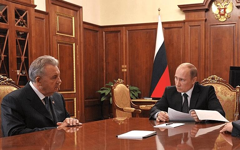Встреча с Виктора Ишаева с Владимиром Путиным, 2012 год.