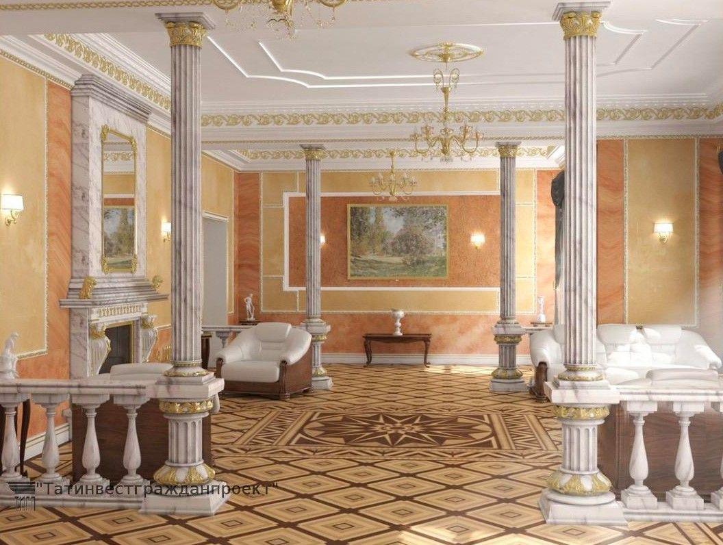 Интерьеры этой резиденции 10-10 были опубликованы в интернете компанией из Татарстана «Татинвестгражданпроект», которая делала дизайн-проект.