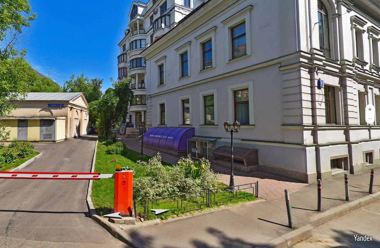 Фотография дома в 1-м Зачатьевском переулке, в котором находится квартира, находящаяся в пользовании Тимура Иванова и его супруги.