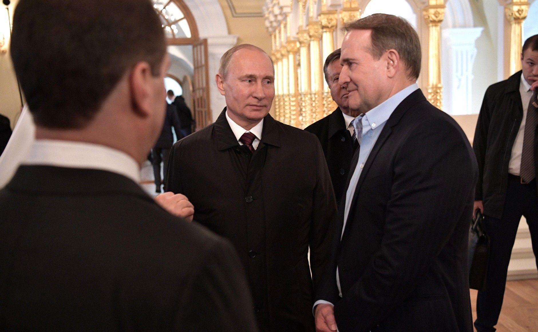 Виктор Медведчук с Владимиром Путиным.
