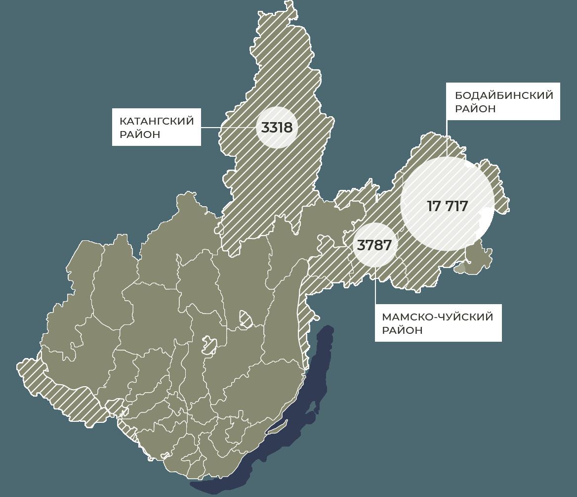 ВИркутской области всостав «зоны контроля» пожаров полностью входит Катангский район: поданным Росстата, на1января 2019 года, внем проживало 3318 человек.