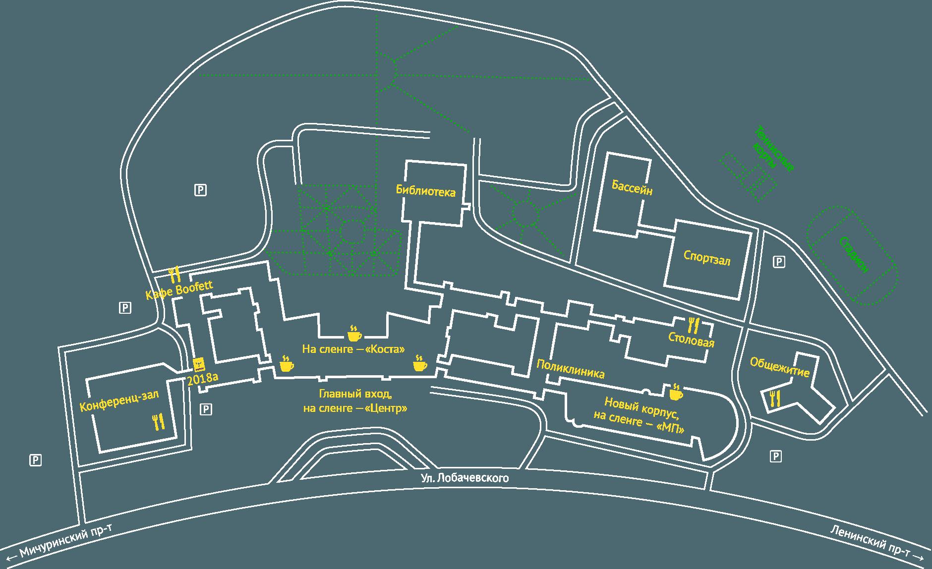Карта-схема МГИМО
