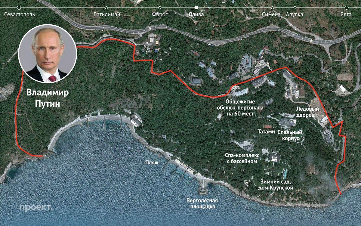 Примерный план территории крымских дач №6и№8 в поселке Олива