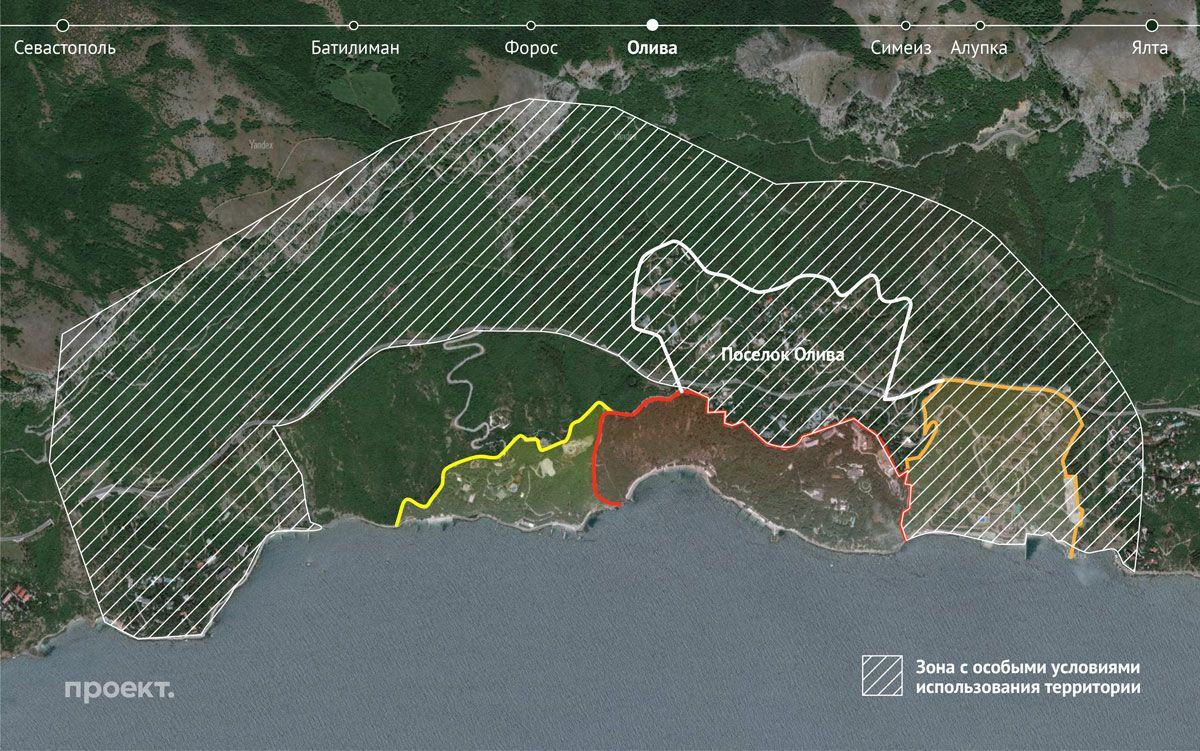 Охранная зона вокруг крымских госдач — из-за нее жители Оливы теперь немогут зарегистрировать свои дома иземлю в Росреестре