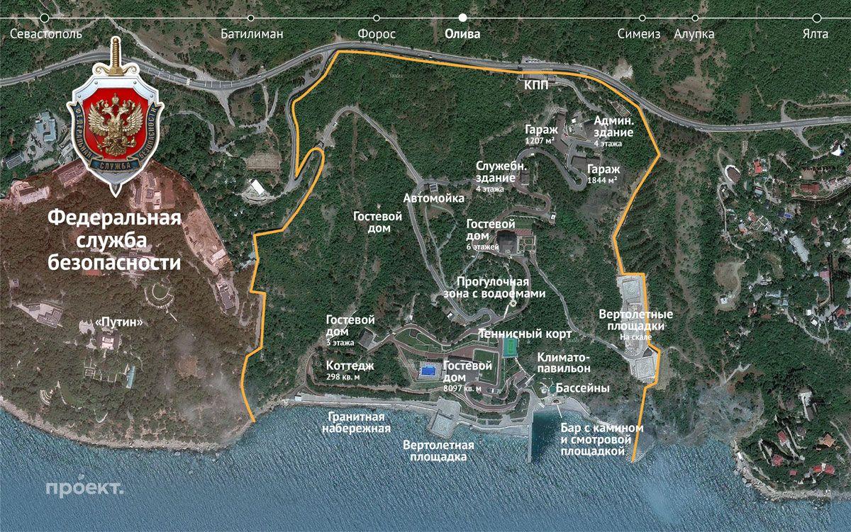 План территории воинской части в поселке Олива, Южный берег Крыма