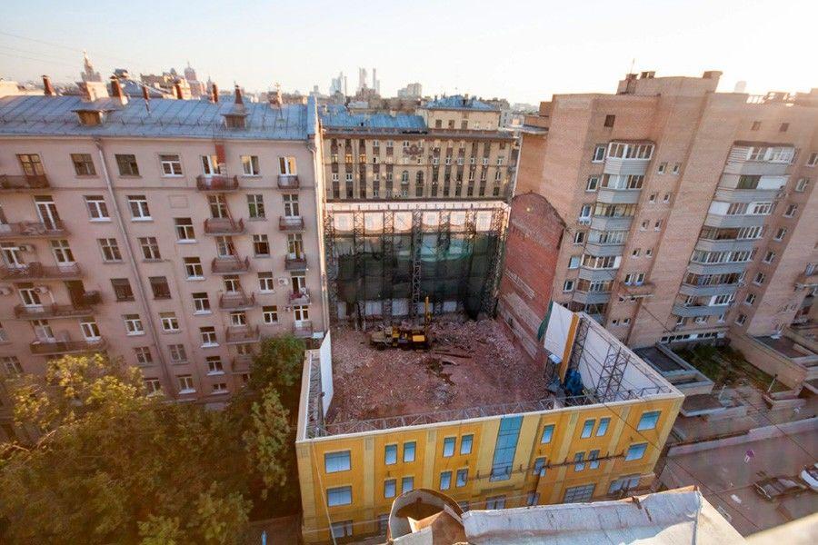 Снесенный дом на 1-й Тверской-Ямской улице, 22 в Москве.